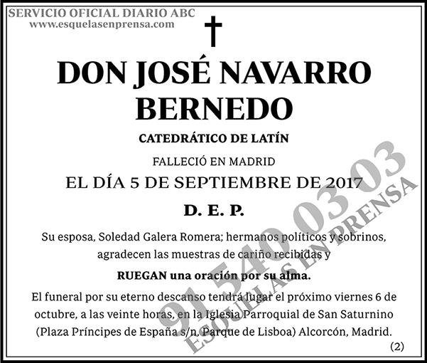 José Navarro Bernedo